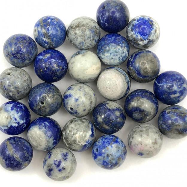 PN107 - Pedra Natural Meio Furo Sodalita 10mm - 02Unids