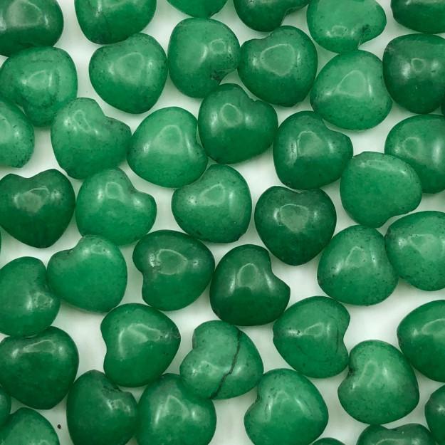 PN111 - Coração Pedra Natural 10mm Jade Malazia - 04Unids
