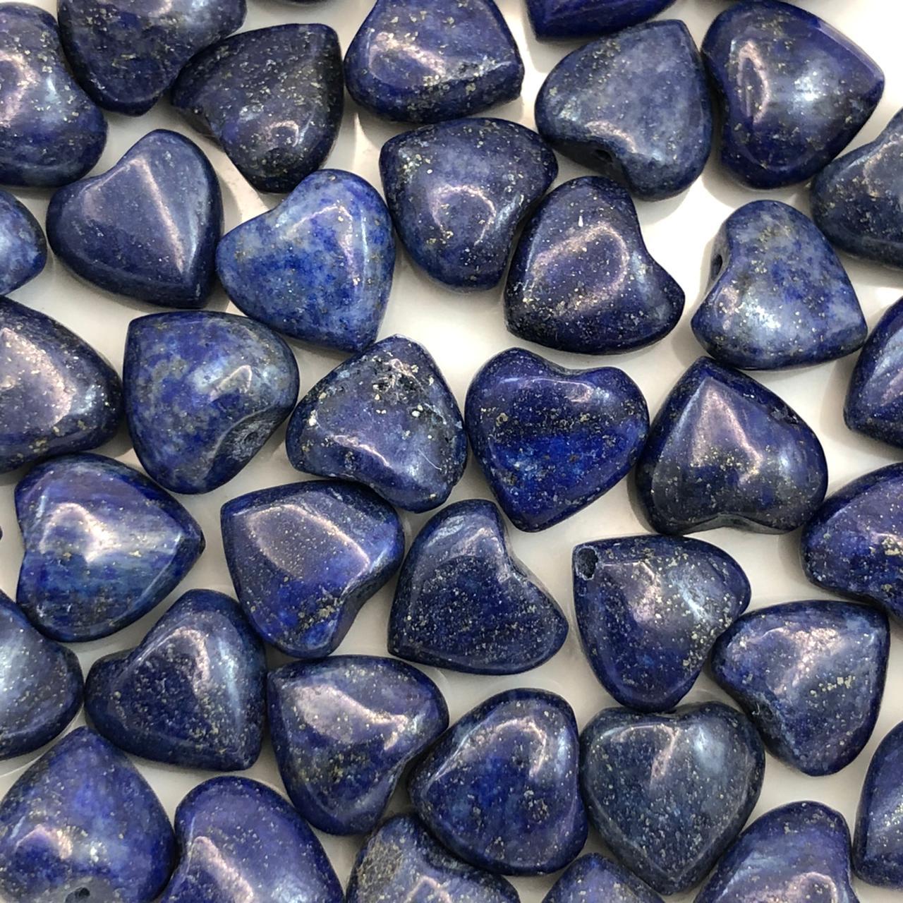 PN125 - Coração Pedra Natural 10mm Sodalita - 04Unids