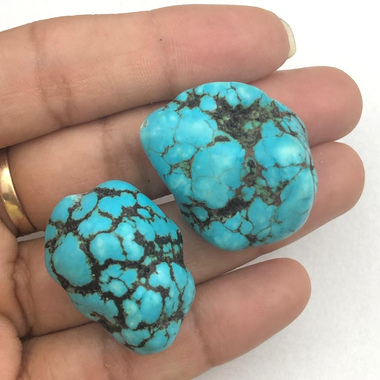 PN88 - Pedra Natural Howlita Turquesa Bruta - 01Unid