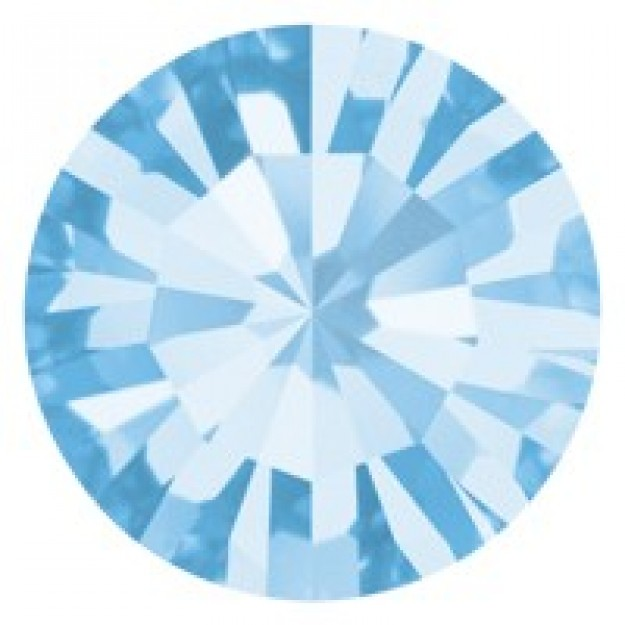 PP10 - Strass Perfecta Aquamarine - 50Unids