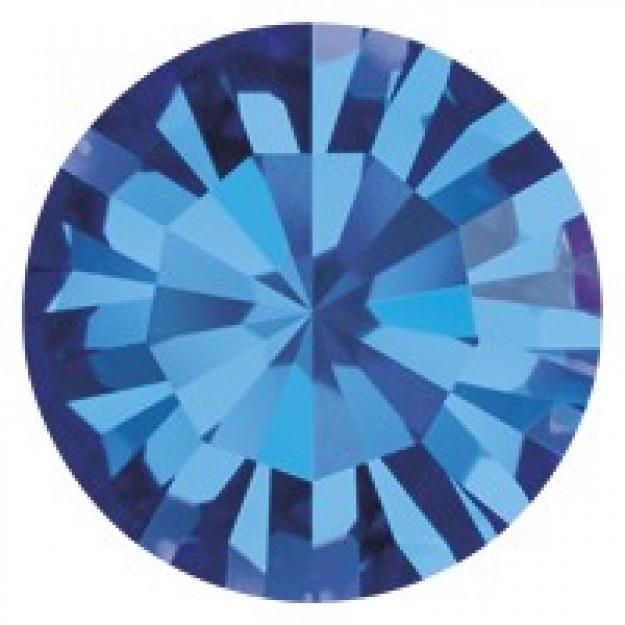 SS34 - Strass Perfecta Capri Blue - 12Unids