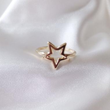 Anel Estrela Vazada