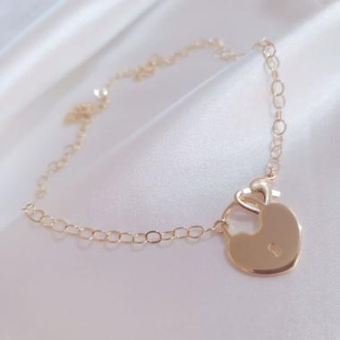 Chocker Com Cadeado Coração