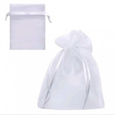Saco de Organza 13x18 Branco