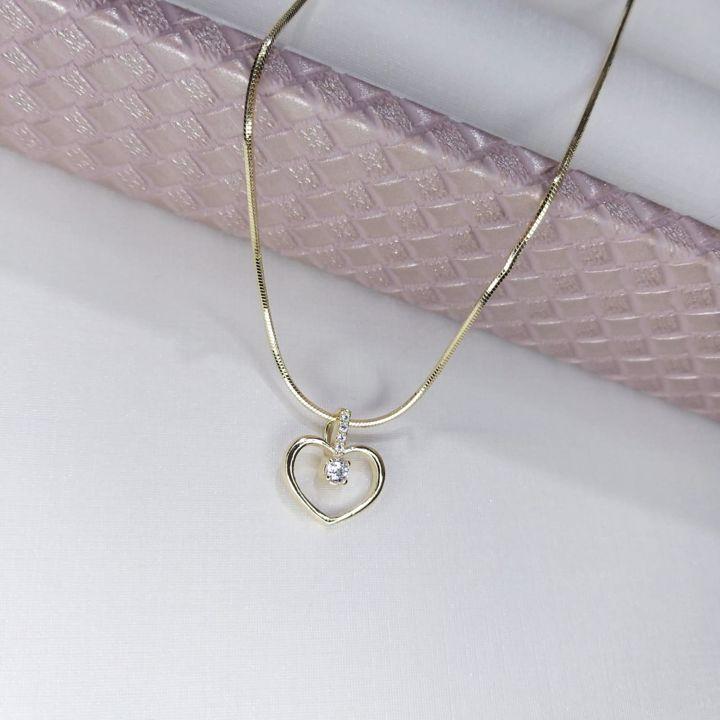 Cordão Diamantando Com Coração