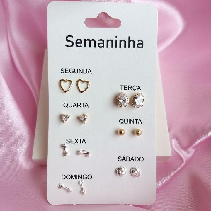 Kit Semaninha Banho de ouro e Prata