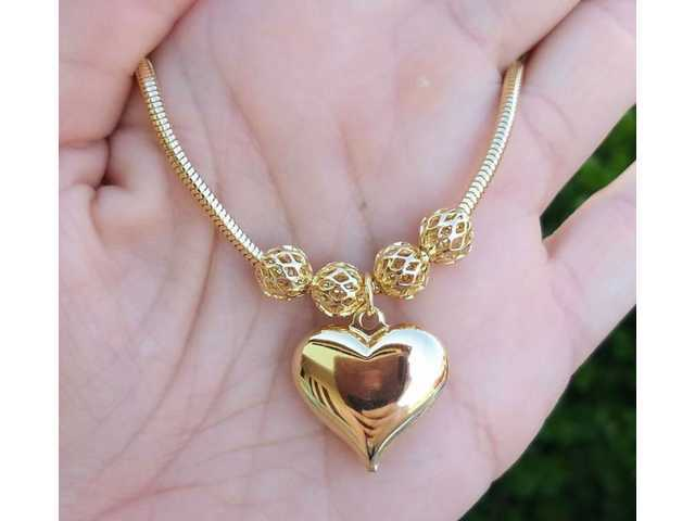Pulseira C/ Pingente Coração