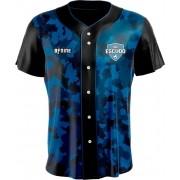 Camisa Estampada de Baseball Camuflado