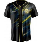 Camisa Estampada de Baseball Colmeia