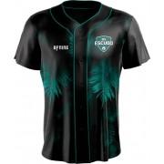 Camisa Estampada de Baseball Folha