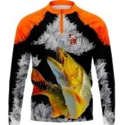 Camisa Estampada de Pesca