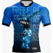 Camisa Estampada Free Fire Azul