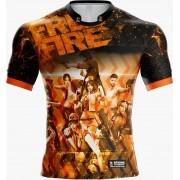 Camisa Estampada Free Fire Laranja