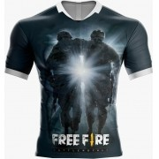 Camisa Estampada Free Fire Preto