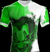 Camisa Estampada Palhaço Verde