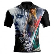 Camisa Estampada Vikings Lagertha