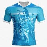 Camisa Estampada Free Fire Azul Bebe