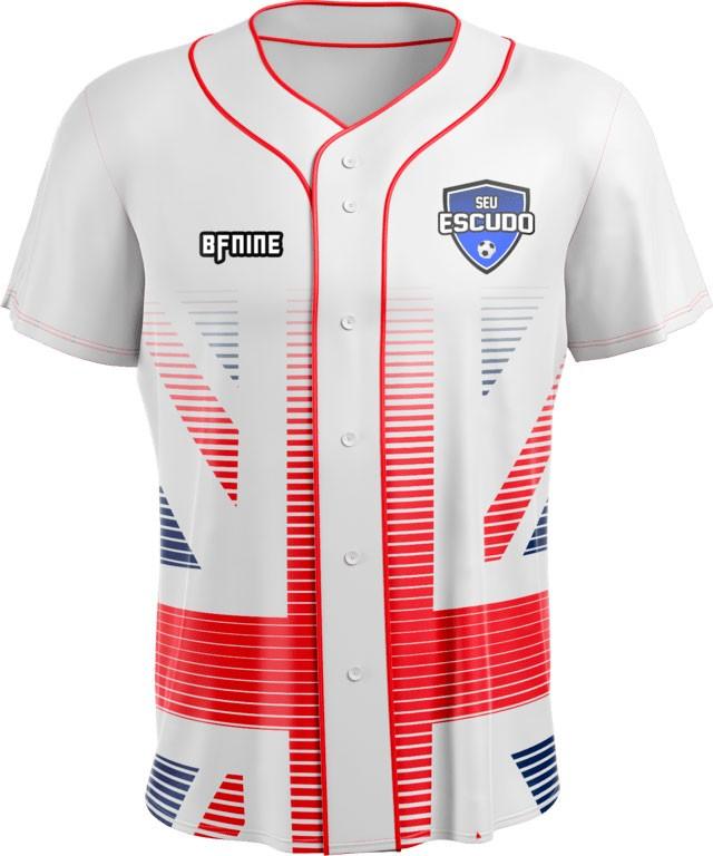 Camisa Estampada de Baseball EUA