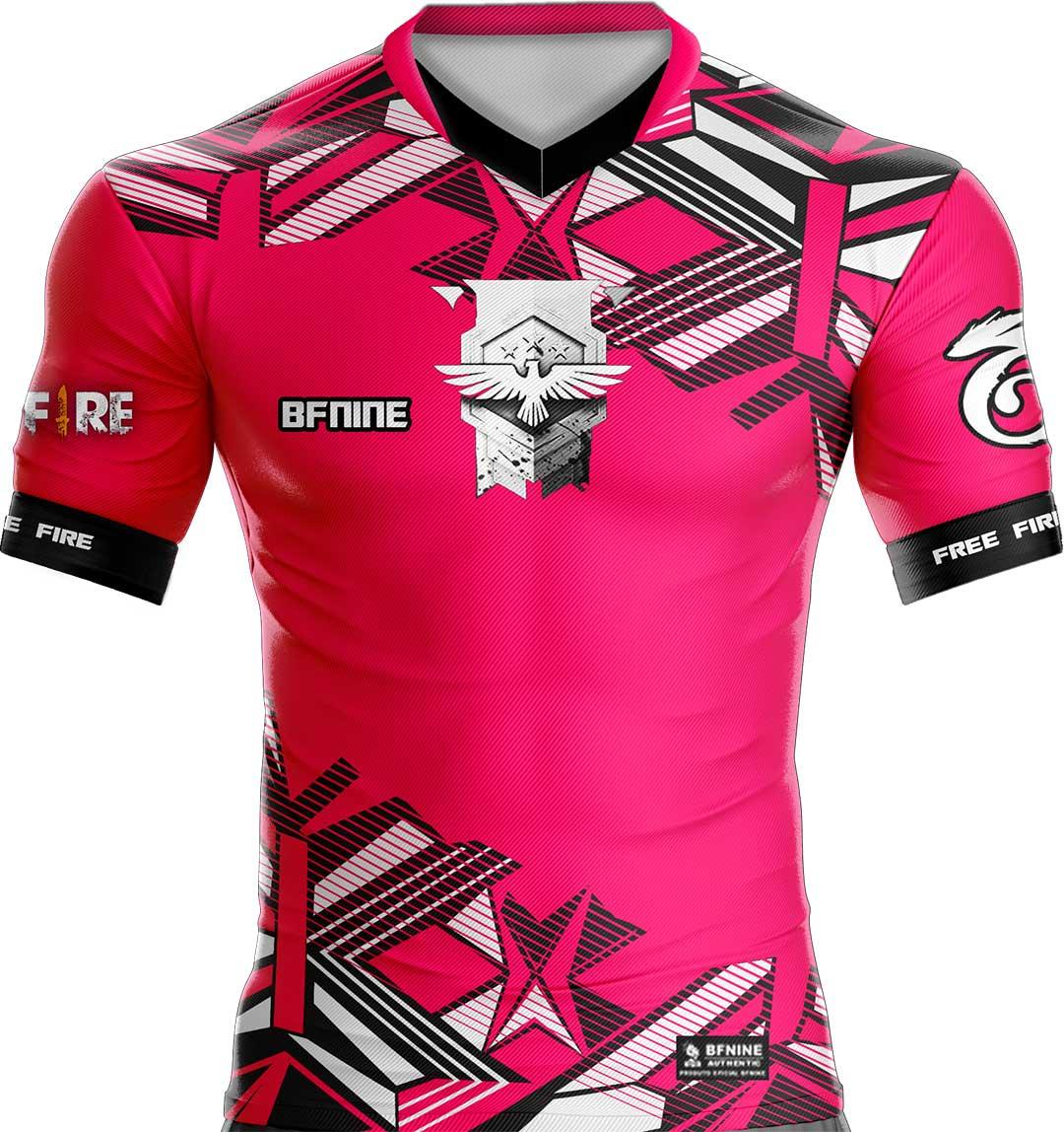 Camisa Estampada Free Fire Rosa
