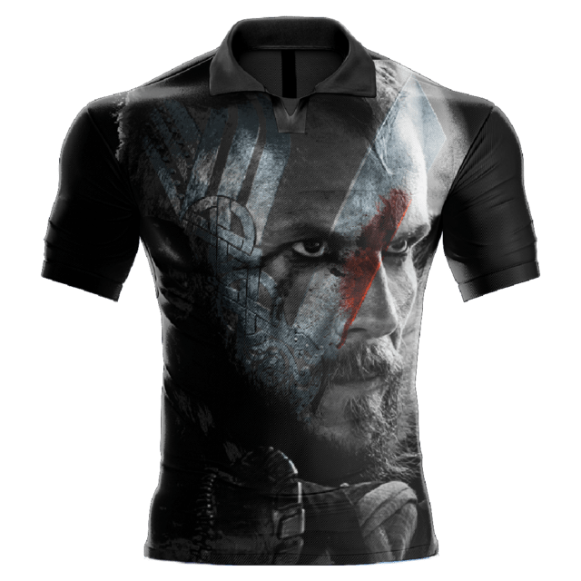 Camisa Estampada Vikings Floki