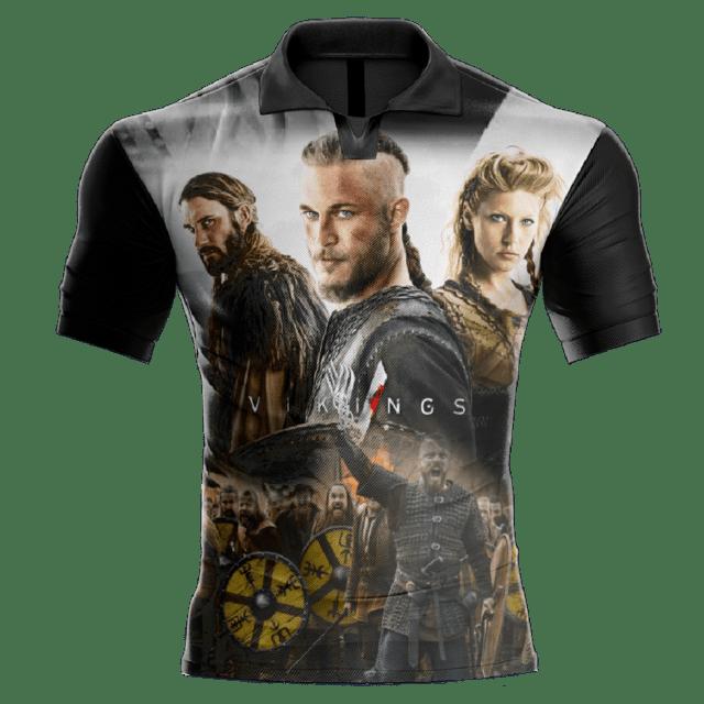Camisa Estampada Vikings