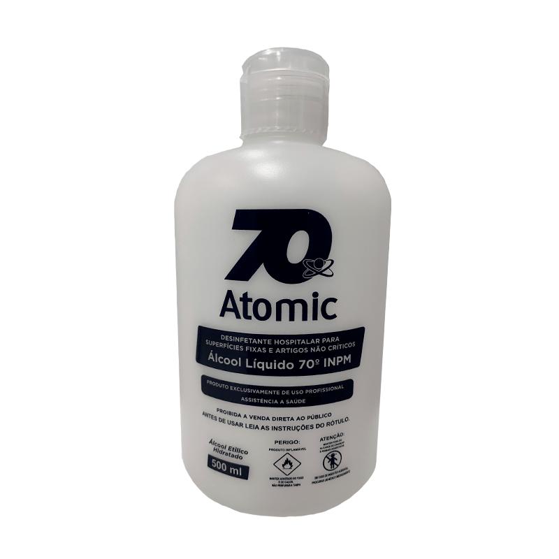 Álcool Líquido Atomic 70 - 500 ML