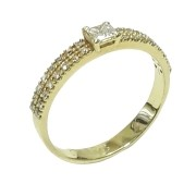 Anel Ouro 18k CAS0025