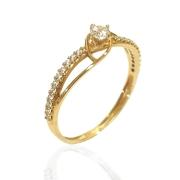 Anel Ouro Solitário 18k 5306Z