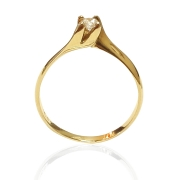 Anel Ouro Solitário 18k AZ1013