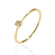 Anel Solitário Ouro 18k AZ1704-3PTS