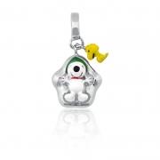 Berloque Prata Snoopy Brincando na Neve P05960-36