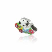 Berloque Prata Snoopy Cama de Flores P05967-36