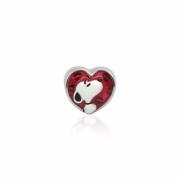 Berloque Prata Snoopy Coração Love P05959-36