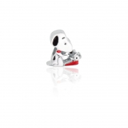 Berloque Prata Snoopy Digitando P05956-36