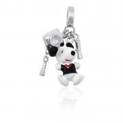 Berloque Prata Snoopy Formatura P05964-36