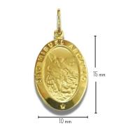 Pingente Ouro 18k São Miguel Arcanjo 15MM DS536P