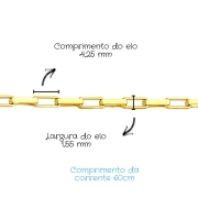 Corrente Ouro 18k Cartier 60 cm 797870