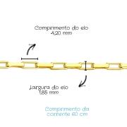 Corrente Ouro 18k Cartier 60 cm 801508