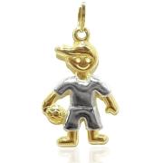 Pingente Ouro 18k menino com bola 006248