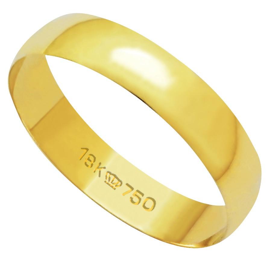Aliança Ouro 18k CPL 410