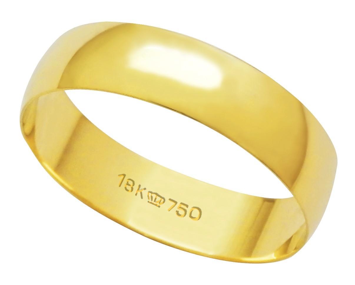 Aliança Ouro 18k CPL 500