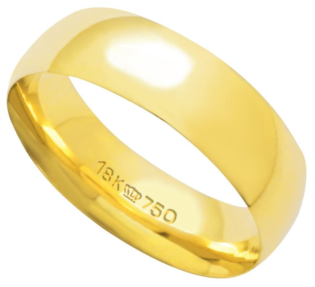 Aliança Ouro 18k CPL 600R