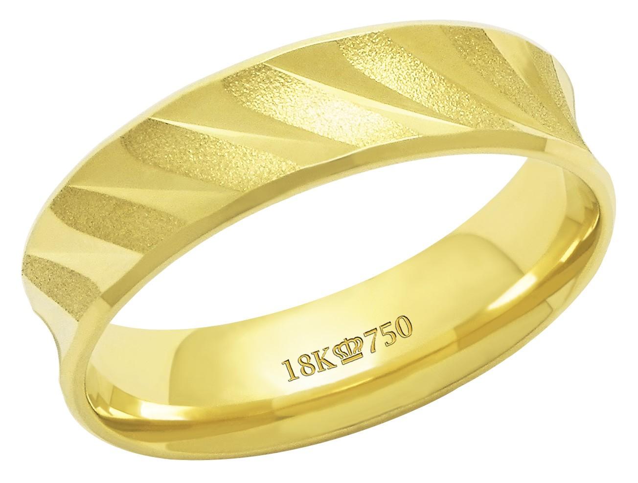 Aliança Ouro 18k CPL C627R