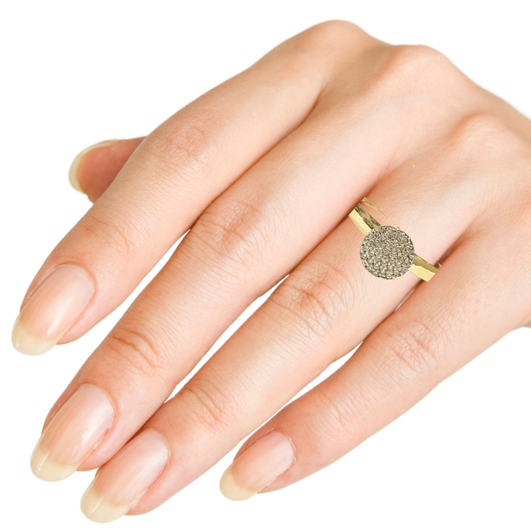 Anel Ouro 18k Pave AN354Z