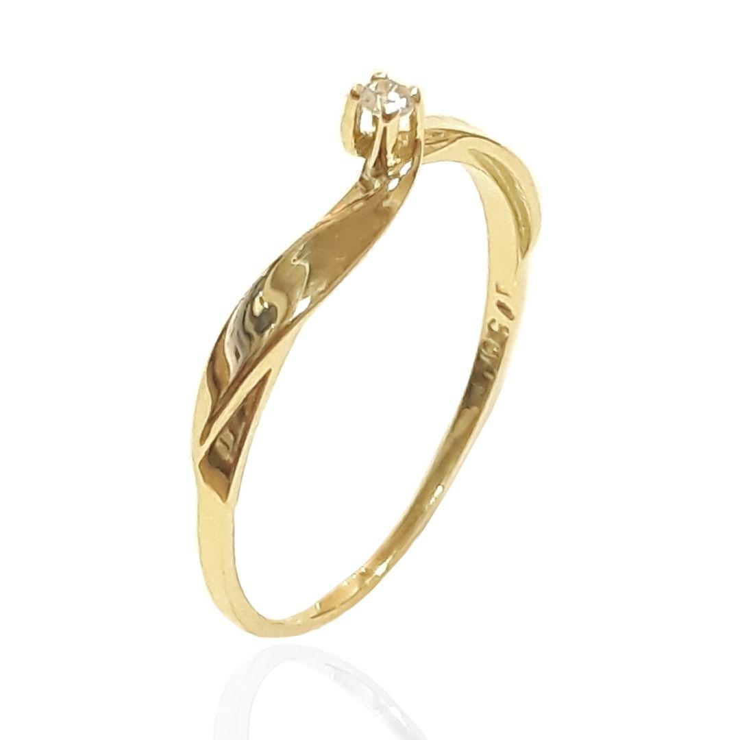 Anel Solitário Ouro 18k AZ1429