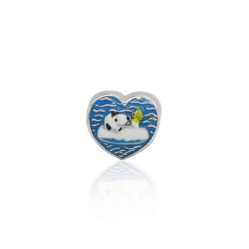 Berloque Prata Snoopy na piscina P05953-36