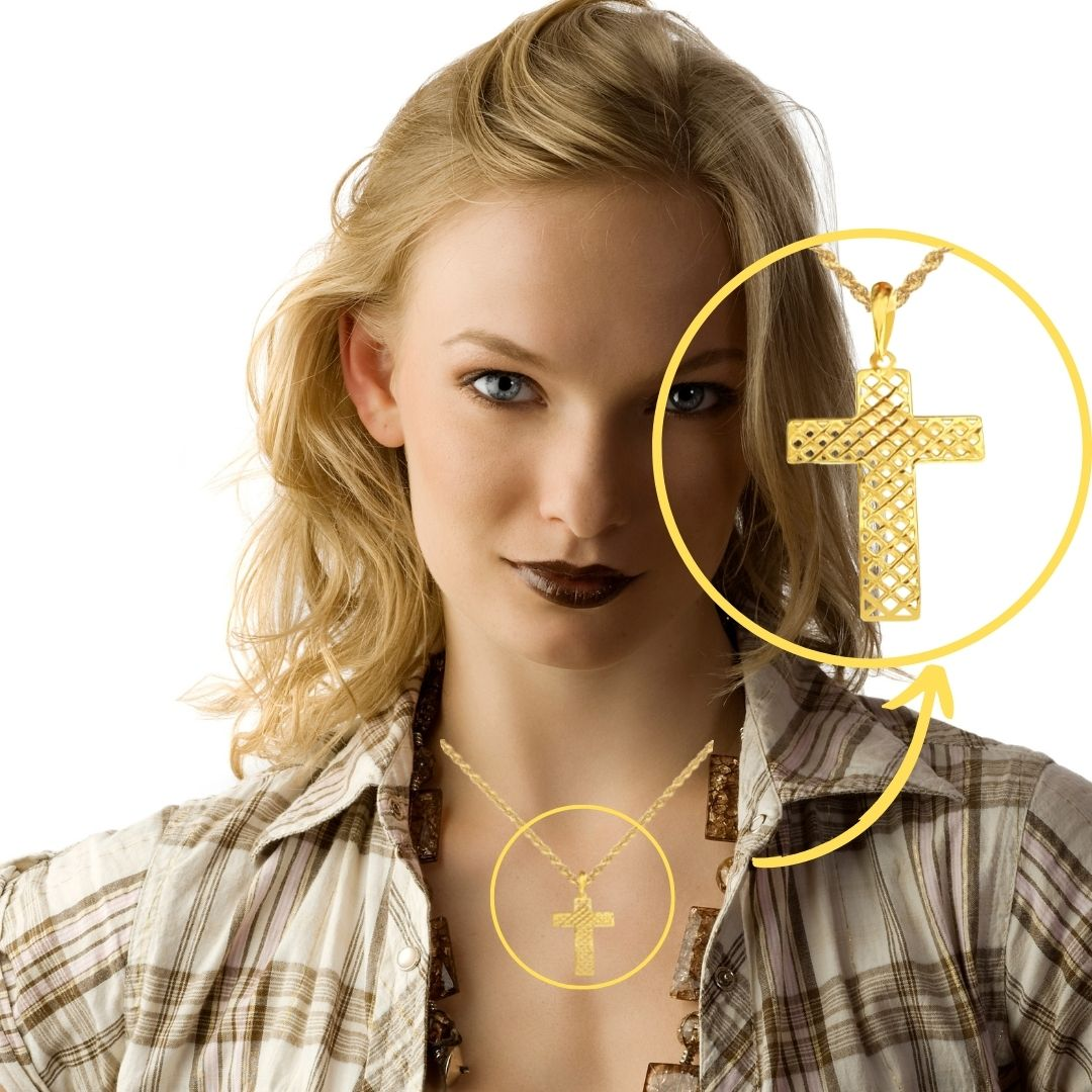 Crucifixo Ouro 18k 002059