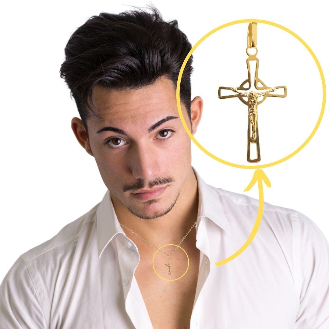 Crucifixo Ouro 18k 023177