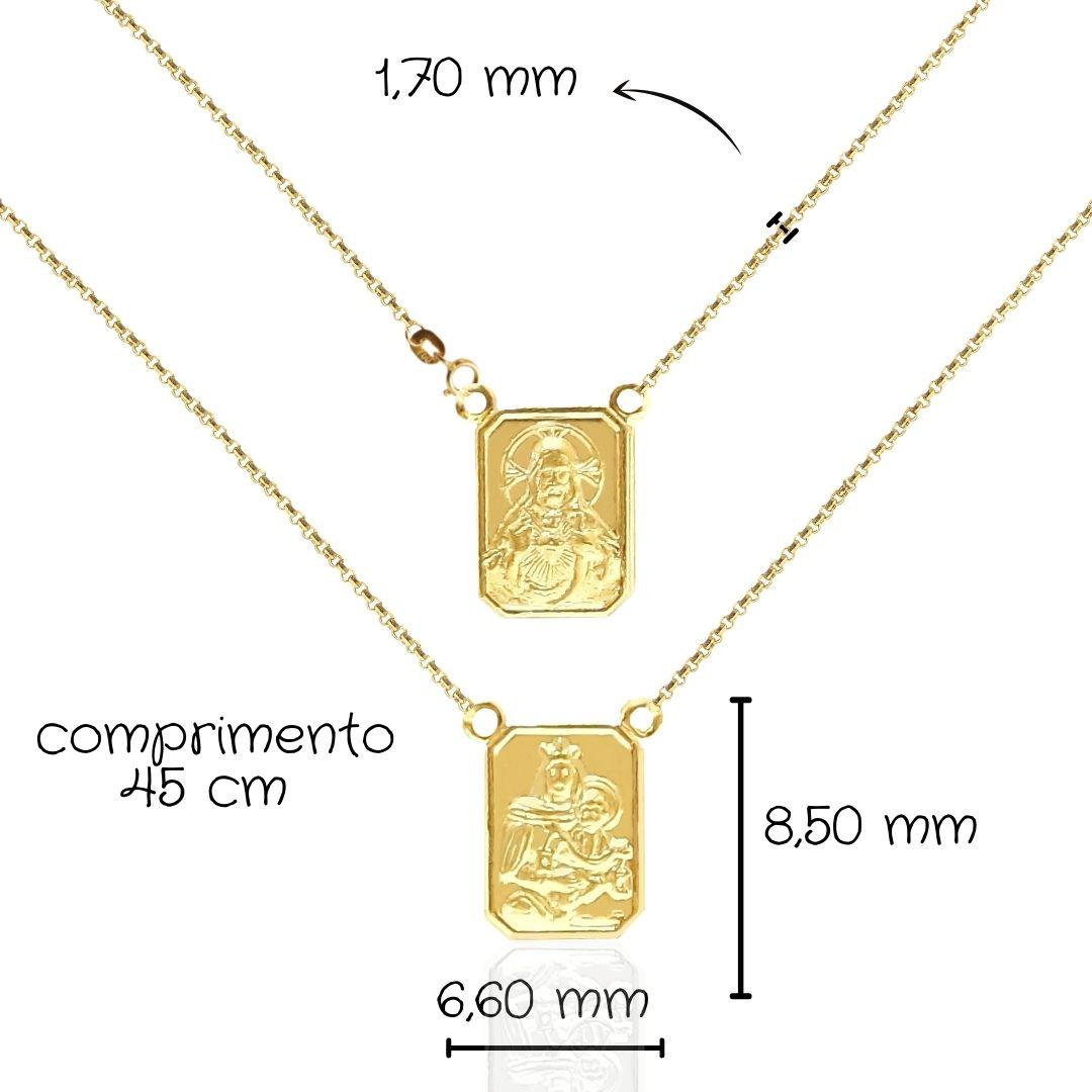 Escapulário Ouro 18k 802550